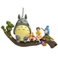 Encantador lindo Totoro Camión Árbol Figura de Acción Coleccionables Juguetes Muñecas Niños Juguetes Regalos de Navidad