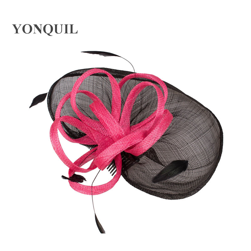 Элегантное платье в винтажном стиле; Цвет Черный; шляп шляпки из соломки синамей с вуалеткой хорошее cricle полосы свадебные головные уборы высокого качества для девочки, Клубная Кепка MYQ065