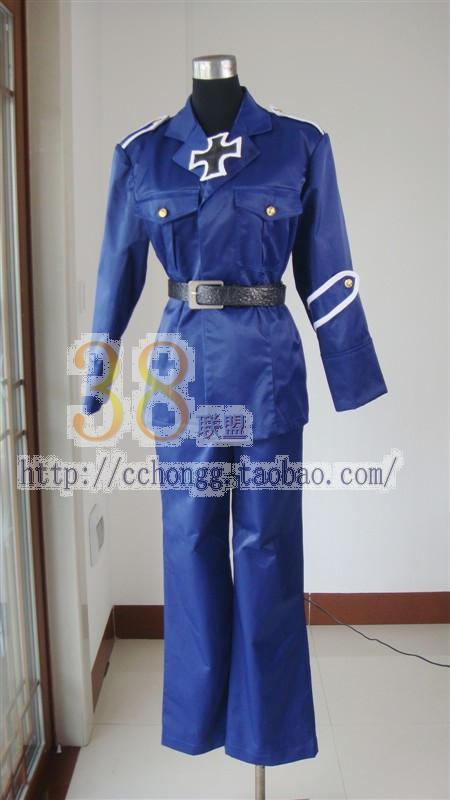 Axis Powers Hetalia Prussia anime cosplay costume custom any size