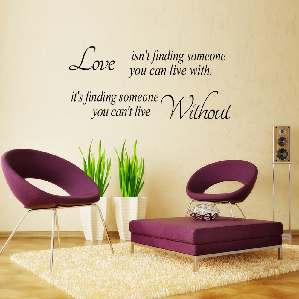 Online Shop LARGE Love Isnu0027t Finding Someone Wall Art Stickers  Bedroom  Decals Quote | Aliexpress Mobile