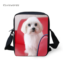 ELVISWORDS Children Crossbody Bag Messenger Liightwheight Cute Dog Printing Shoulder for Teenagers 2019 New