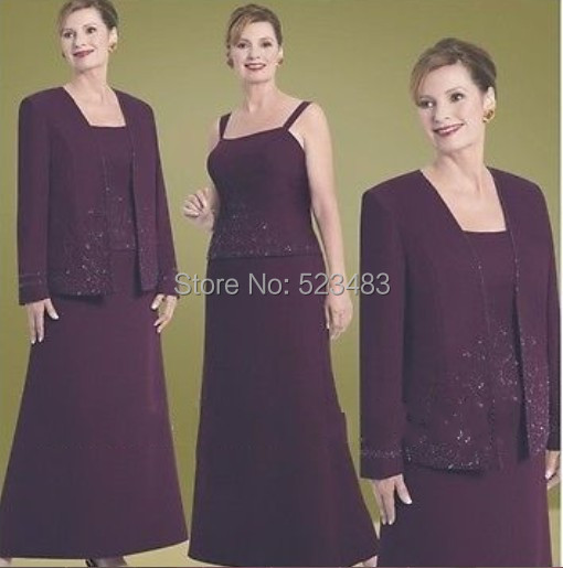 82e6a7410a7 2014 New Free Jackt New Purple Grandmother of the Bride Pant Suits ...