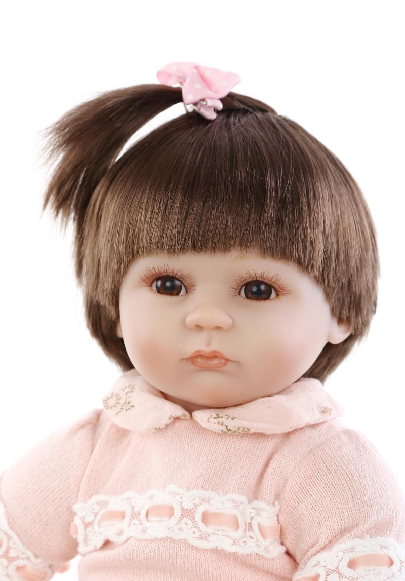 ФОТО Soft silicone reborn baby dolls lifelike cute newborn girl baby doll toy for child birthday gift bedtime play house toy