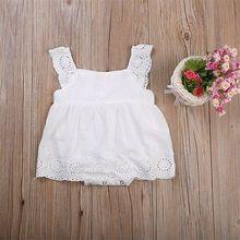 Милое кружевное платье для маленьких девочек в США; боди для новорожденных девочек; комбинезон; хлопковое платье; Детская летняя одежда