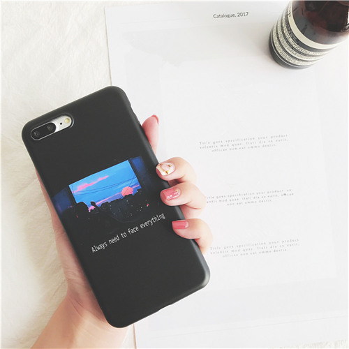 Character illustration phone case for iphone 7 7Plus Retro style soft TPU Case For iphone X 6 6s 6Plus 8 8plus back cover