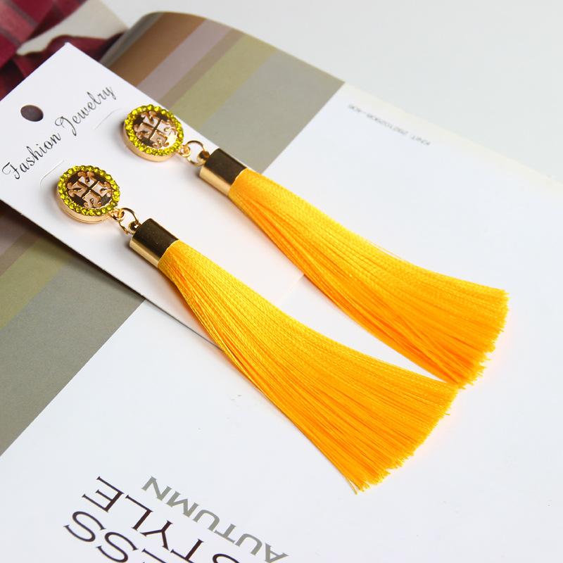 Exaggerated Rhinestone Long Tassel Earrings 2017 New Arrival Fashion Brincos Bijoux Crystal Dangle Earrings Women's Jewelry 7