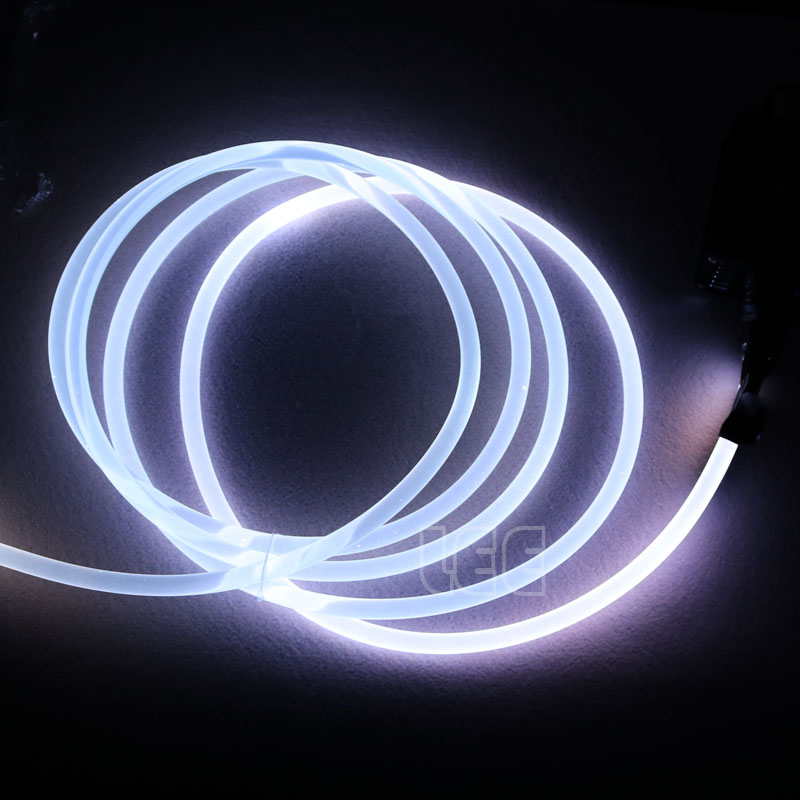 5mX 透明側グロープラスチック PMMA 光ファイバケーブルソリッドコア光ケーブル直径 1.5 ミリメートル/2 ミリメートル/ 3 ミリメートル/4 ミリメートル/6 ミリメートル/8 ミリメートル送料無料