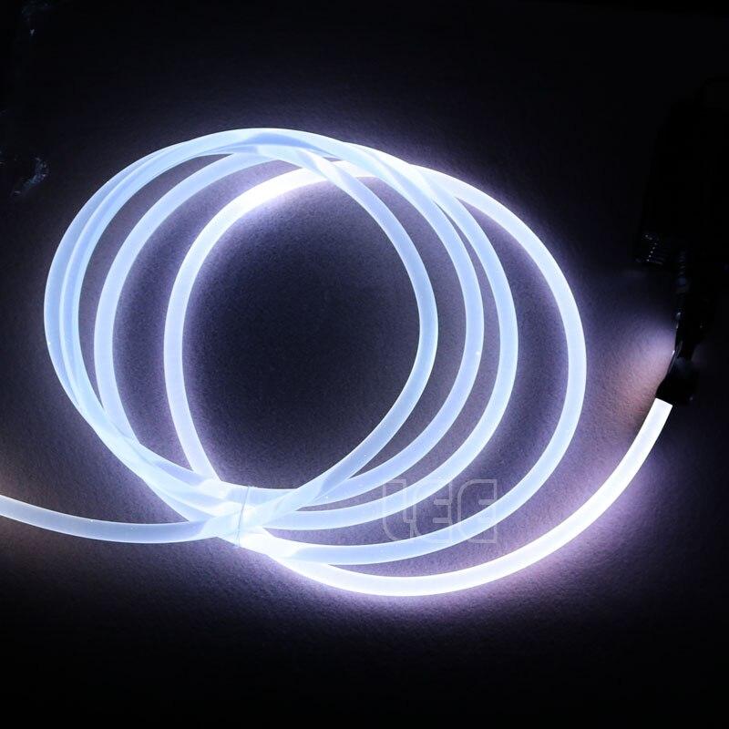 5mX прозрачная сторона свечения пластик PMMA волоконно оптический кабель твердого сердцевина оптического кабеля диаметр 1,5 мм/2 мм/3 мм/4 мм/6 мм/8 мм Бесплатная доставка-in Оптоволоконные лампы from Лампы и освещение on