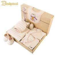 Cartoon Cat Newborn Clothes Soft Cotton Baby Set Striped New Born Baby Boy Girl Clothes Set