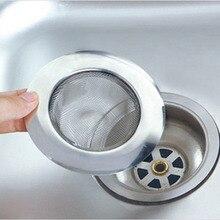 Кухня Слив для раковины колючая проволока дренажный фильтр канализационный фильтр стопорный фильтр отходы предотвращения засорения приборов из нержавеющей стали