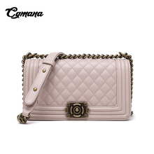 CGmana Women handbag 2018 Luxury Handbags Bags Designer Simple Shoulder Messenger Bag Lingge Chain Handbag Bolsa Feminina