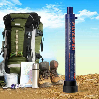 Camping Portable Water Filter 0.2 Microns Purifier Straw Purifying Gear Drinking Water Purifier Filter Outdoor Survival Kits mini kompas sleutelhanger