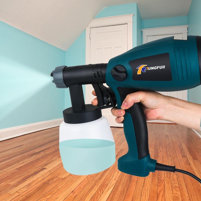 500W Spray Gun Paint Sprayers Sandblasting Airless Paint Sprayer Electric Auto Furniture Steel Coating Airbrush Paint Pistol