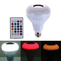 Intelligent Bluetooth Music Ball Light E27 LED White RGB Light Ball Bulb Colorful Smart Music Stage