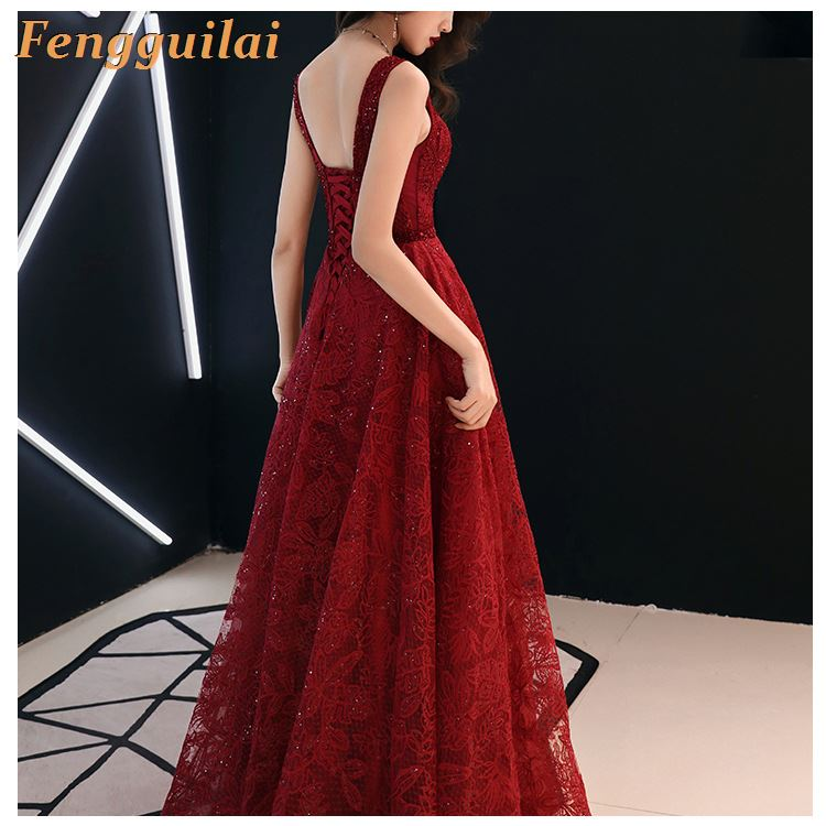 FENGGUILAI Striped Sequined Wrap V Neck Maxi Dress Stretchy Full Sleeved Low Slit Leg Long Party