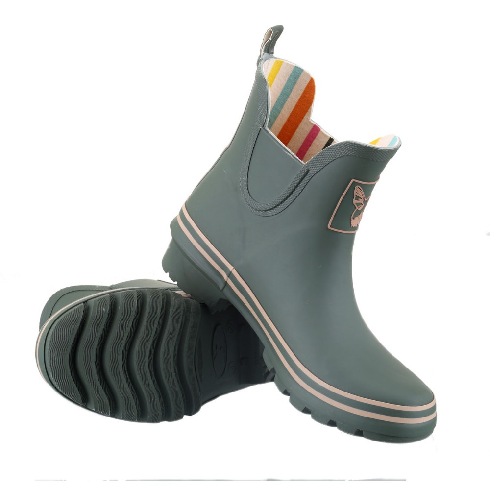 a9e3a33ebac Evercreatures Bristol brand rain boots Green Ankle high quality gumboots  rubber riding boots rain boots Wellies for women-in Mid-Calf Boots from  Shoes on ...