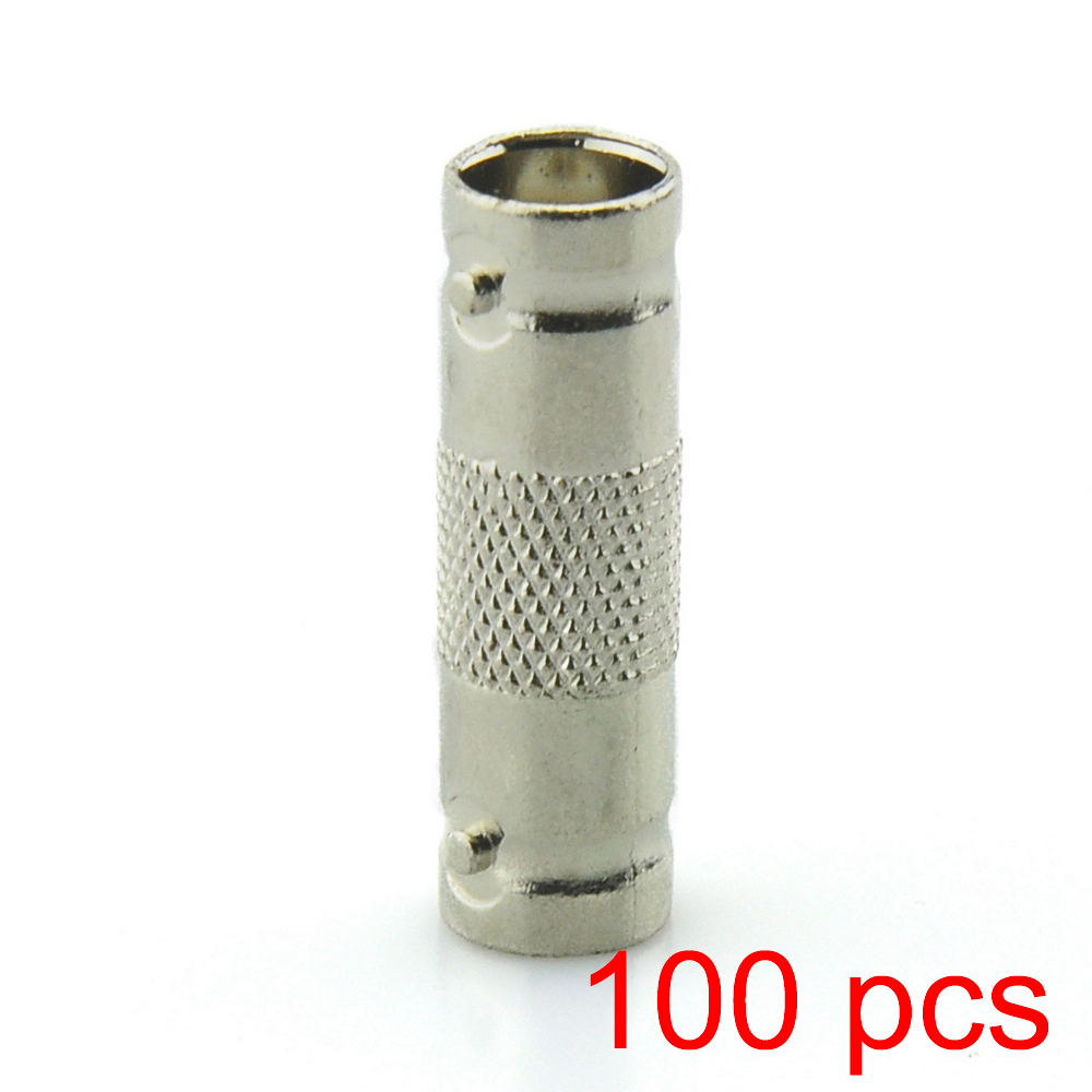 100x BNC Female to Female Inline Coupler Coax Connector Extender Coax RG6 RG59 ...