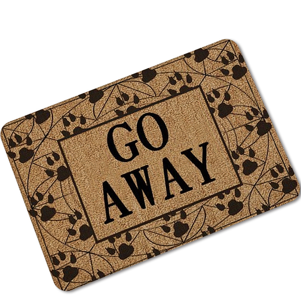 Doorway Rubber Floor Carpet Funny Go Away Door Mat Welcome