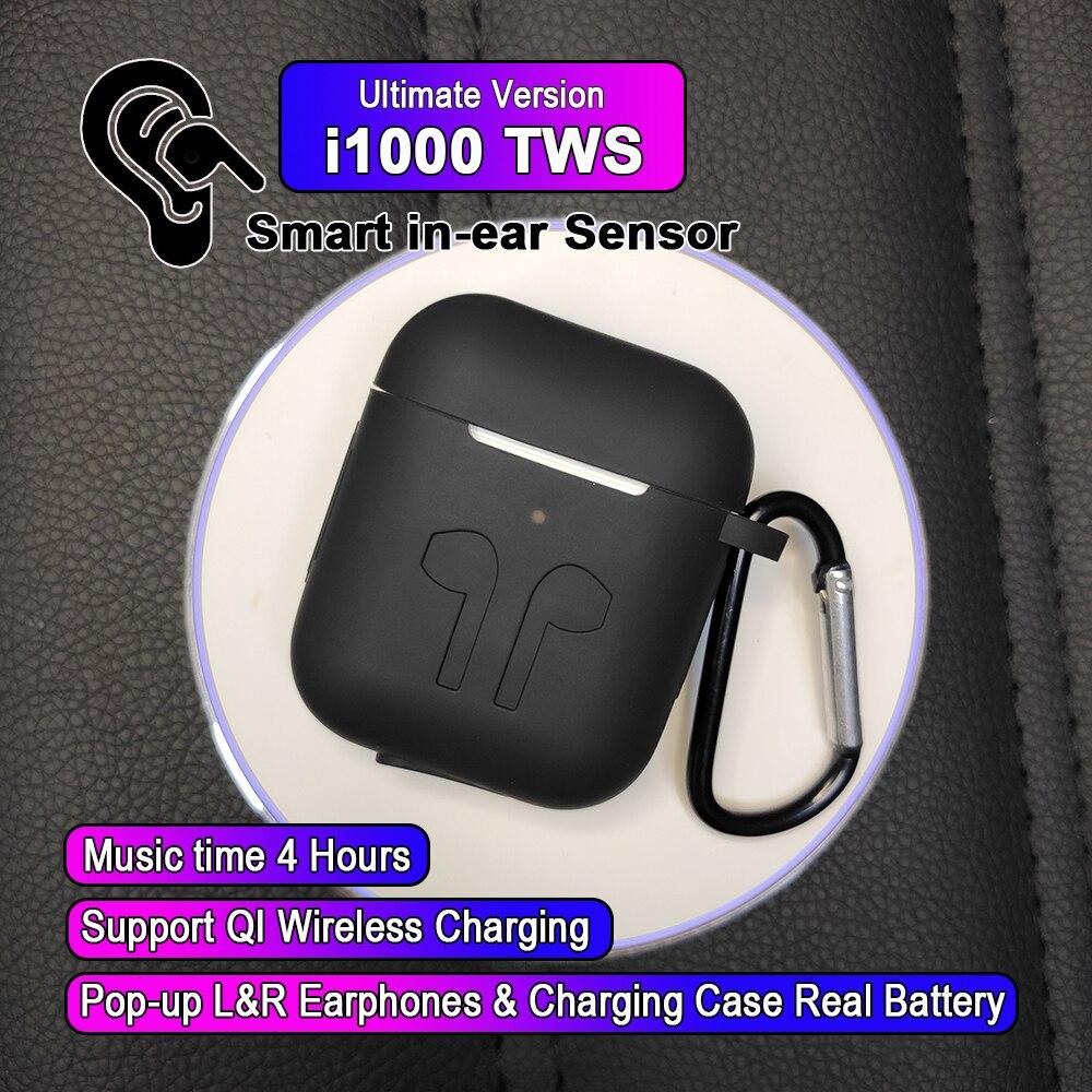 I1000 TWS Arie 2 réplique 1:1 contrôle intra-auriculaire fonction écouteur sans fil 6D Super basse pk w1 h1 puce i100 i20 i60 i200 i500 i800 tws