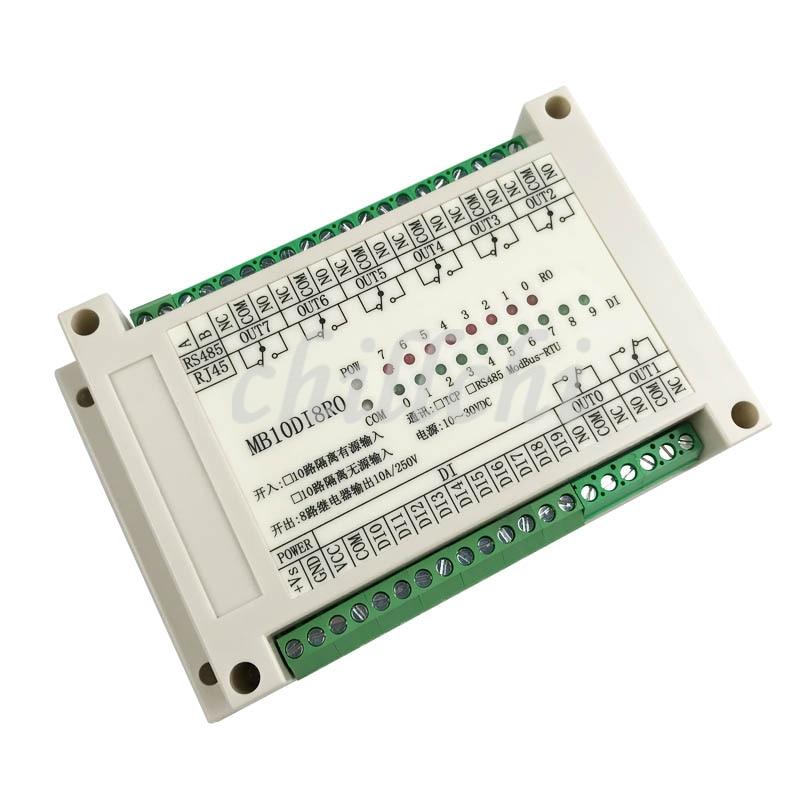Switch input and output input output 8 way relay output module MODBUS RTU RS485 communication