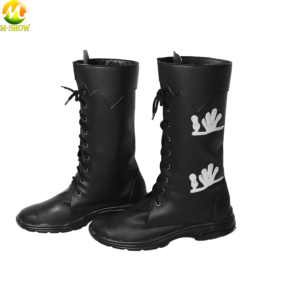 Noctis Lucis Caelum Cosplay Costume Boots Game Final Fantasy XV Men Black Martin Boots Halloween Cosplay Accessories