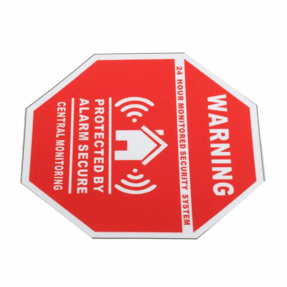 Nuevo 5 piezas casa de seguridad de alarma de pegatinas/calcomanías signos para puertas y ventanas nuevo
