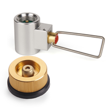 Outdoor Camping Gas Stove Converter Gas Burner Adaptor Split Type Furnace Connector Auto-off Gas Cartridge Tank Cylinder Adapter