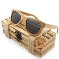 BOBO de AVES 100% Natural De Bambú De Madera gafas de Sol Hechas A Mano de Revestimiento de Espejo Polarizado Lentes de Gafas Con Caja de Regalo