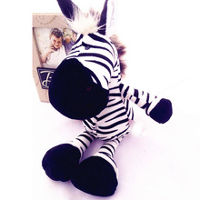 Zebra Animal Dolls, 25/35CM Cartoon Plush Toys,Children Soft PP Cotton Kids As Birthday Christmas Gift