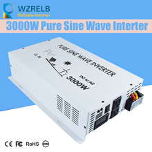 Peak Full Power 3000w Pure Sine Wave Solar Power Inverter Dc 12v 24v 48v Converter Solar power inverter with Dual Display off grid pure sine wave solar inverter 24v 220v 2500w car power inverter 12v dc to 100v 120v 240v ac converter power supply