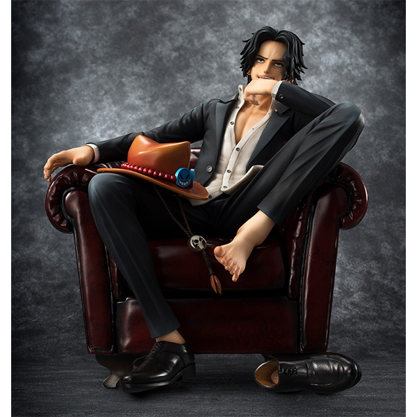 NEW hot 16cm One Piece ACE sofa Action figure toys doll collection Christmas gift no box new hot 11cm one piece vinsmoke reiju sanji yonji niji action figure toys christmas gift toy doll with box