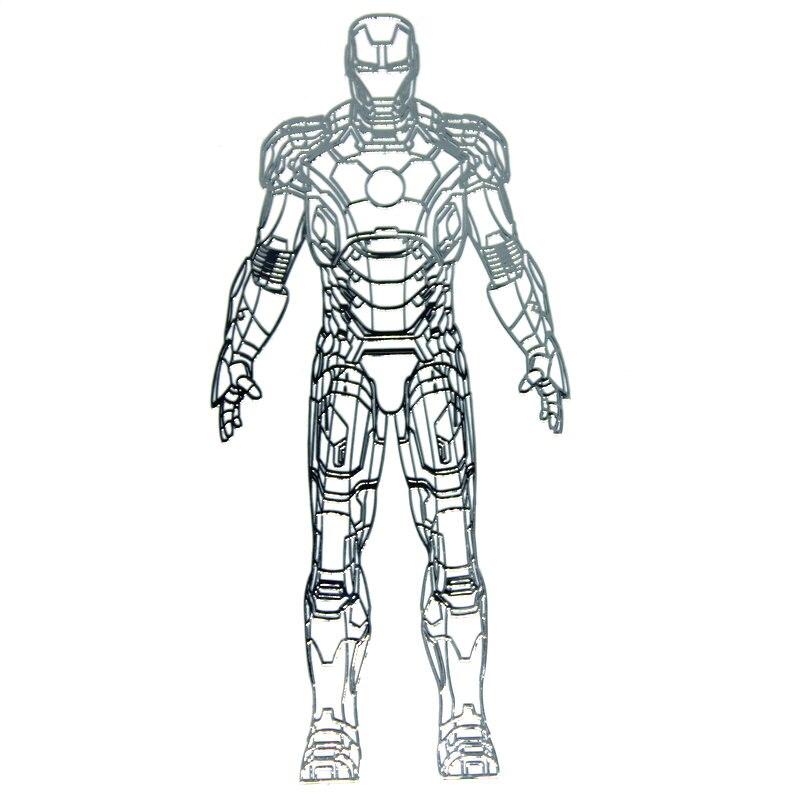 PowerAngel recién llegado gran Iron Man pegatinas de Metal pegatinas de teléfono de lujo portátil coche DIY calcomanía pegatinas