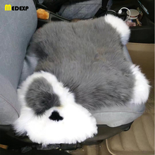 Creative winter car seat cushion 1pcs car seat cover Keep warm best plush size 45*45 cm  4 color to chose free shipping new arrival car seat cover universal size best price sport racing seat new and unique car seat cushion free shipping