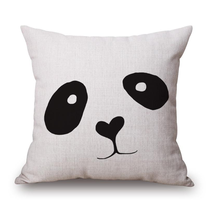Buy 7 styles panda deer custom cushion for White craft pillow cases