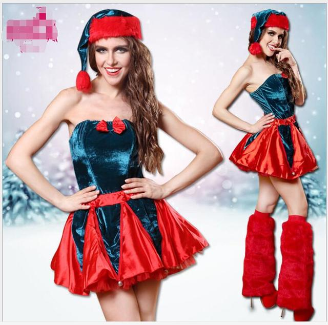 Womens Santa Claus Christmas Costume Red Fancy Dress Costumes ...