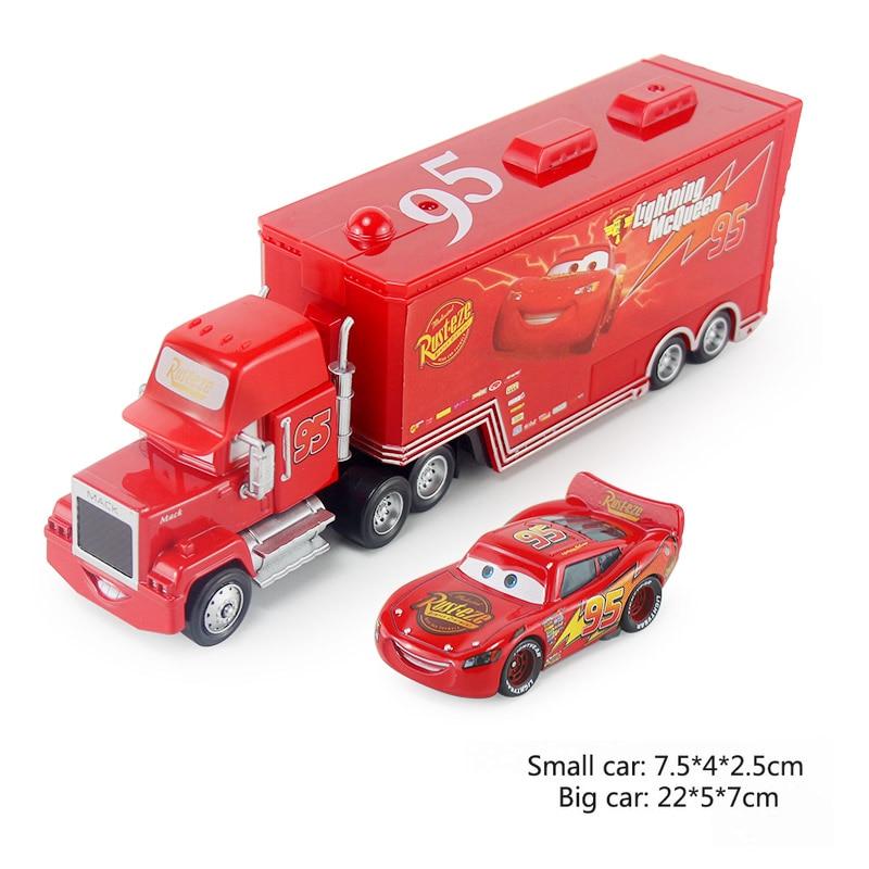 Дисней Pixar Тачки 2 3 игрушки Молния Маккуин Джексон шторм мак грузовик 1:55 литая под давлением модель автомобиля для детей рождественские подарки - Цвет: Two cars 1