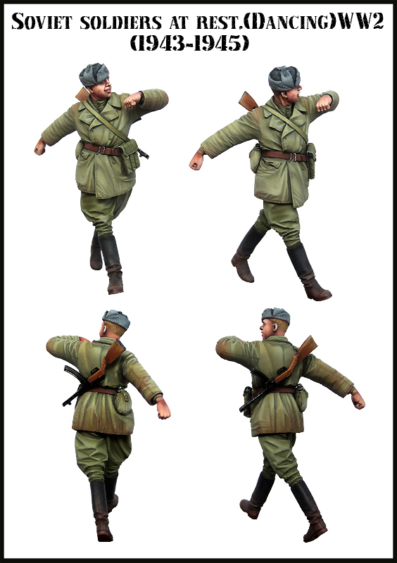 Resin Kits  1/ 35   Russian  Man At Rest Dancing   Figure  Resin Not Color Model Figure DIY TOYS New