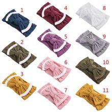 все цены на Baby Toddler Kids Bow Knot Turban Headband Hair Band Headwrap Elastic Soft Cute Twist Head Wrap Accessories Headwear онлайн