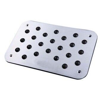 Piso Tapete Mat Pad Pedal Footrest Placa Universal Etiqueta Para Peugeot 206 207 208 301 307 408 308cc 508 607 2008 3008 4008