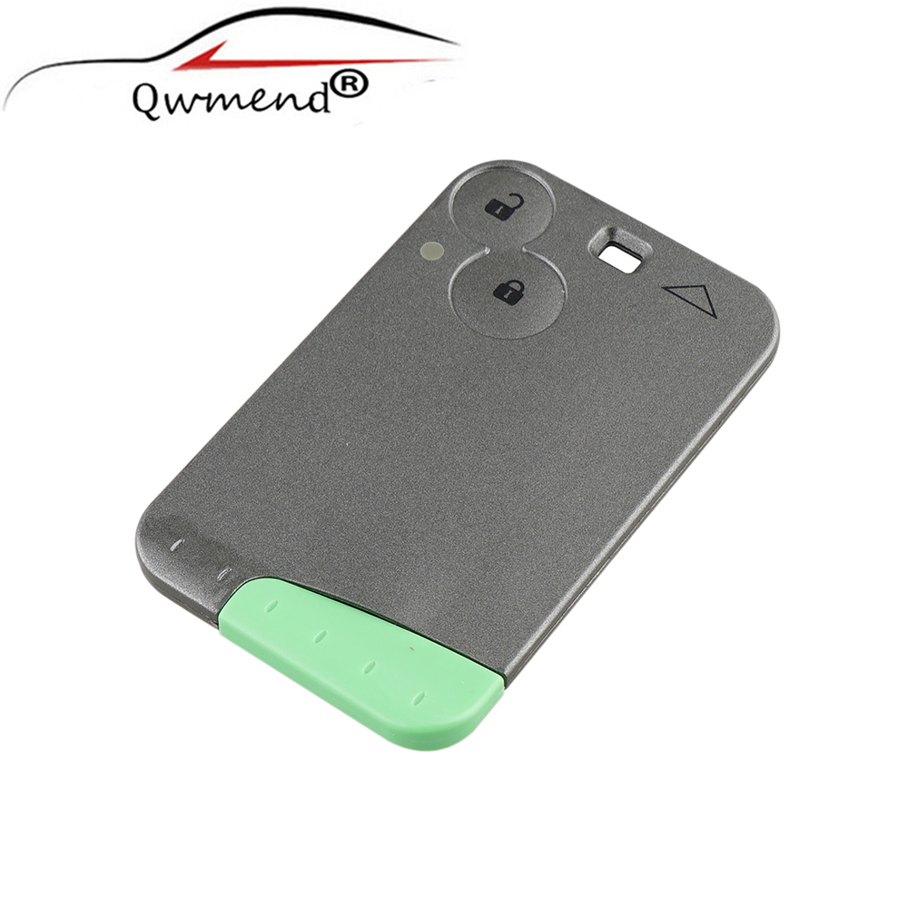 Shell-Case Remote-Key-Card No-Logo RENAULT Laguna Replacement Keys 2-Button For