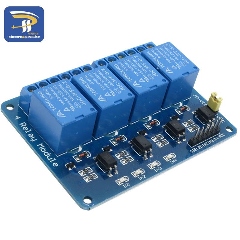 5 V 4 Channel modulo relè Shield per Arduino ARM PIC AVR DSP 5 V DC 10 Amp