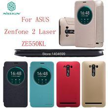 Спс ASUS Zenfone 2 Лазерная ZE550KL Nillkin Искра Серии PU Кожаный Чехол Флип Чехол Для ASUS Zenfone 2 Лазерная ZE550KL