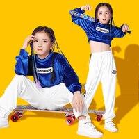 Girl hiphop street dance set children hip hop costumes girls autumn and winter dress girls jazz dance practice clothes
