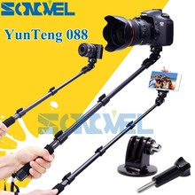 YunTeng 088 Handheld selfie Monopod For Gopro Selfie Stick Monopod Tripod+Phone Holde For iPhone Gopro Hero 4 3+ 3 2 Camera HD