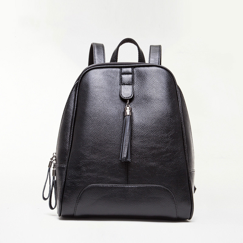 Designer Women's Black Backpacks PU Leather Female Backpack Women School for Girls Purse Large Capacity Shoulder Travel Bag цена и фото