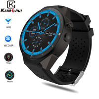 Kaimorui KW88 Pro 3G Smartwatch Phone Android 7.0 Quad Core 1.3GHz 1GB 16GB Bluetooth 4.0 Smart Watch Phone GPS смарт часы