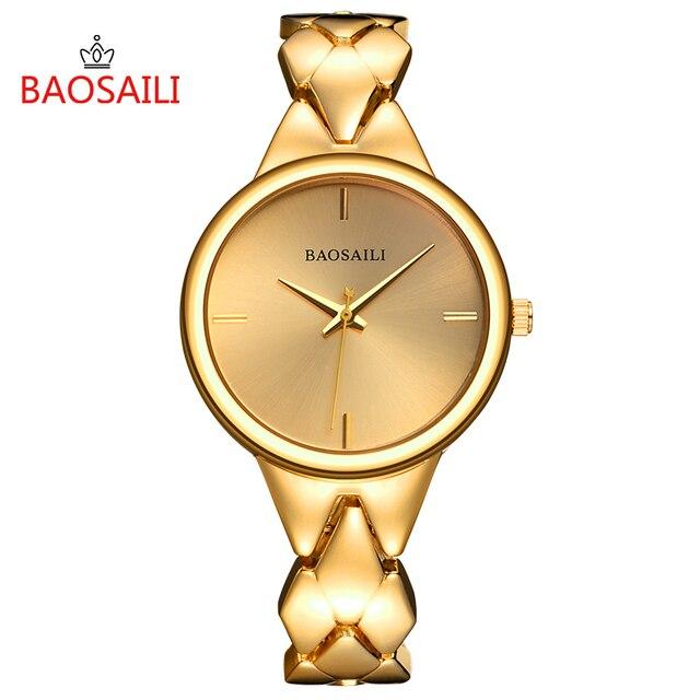 BSL1048 BAOSAILI Brand New Style Fashion Dress Ladies Bracelet Watch Alloy Golde