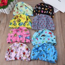 Baby Newborn Swimming Caps Infant Cartoon Printed Swimming Hats Bathing Waterproof Caps For Children Boys Girls Pool 0-6Y(China)