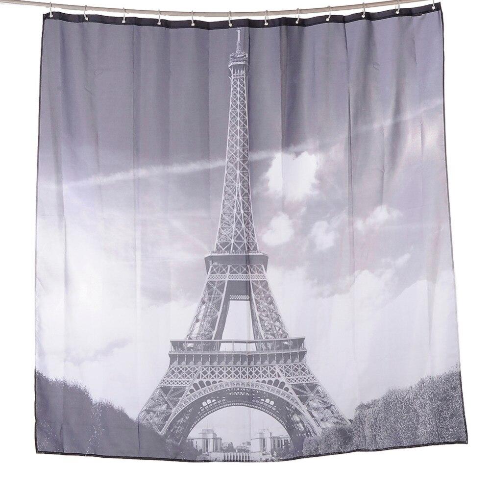 Eiffel tower bathroom decor - The Eiffel Tower Waterproof Bathroom Curtain Anti Mildew Polyester Paris Eiffel Tower Shower Room Curtain
