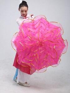 Image 5 - 무대 춤 우산 밸리 댄스 소품 무대 소품 팬 오프닝 댄스 우산 성능 꽃 우산 중국어 우산